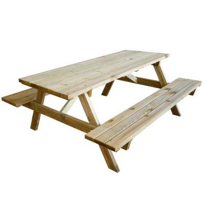 Tavolo da esterno PIC NIC con panche in legno impregnato Verdelook 180x120x70cm
