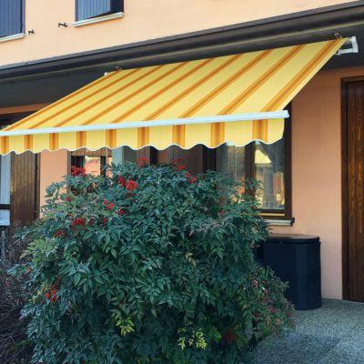 Tenda da sole Itaca inclinazione fissa 2x2,5 mt beige e ocra