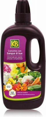 Concime liquido con sangue di bue universale per piante orticole ornamentali 1L