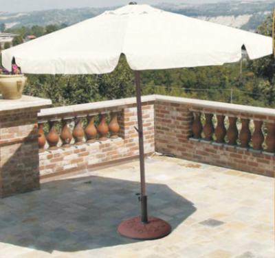 Ombrellone tondo con palo centrale in alluminio diametro 3m beige
