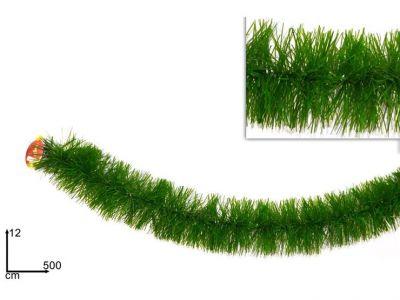 Ghirlanda verde lunga per decorazioni natalizie 500 cm