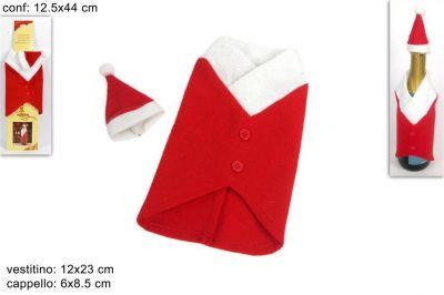 Vestitino vestito Bottiglia spumante Natalizio Natale rosso