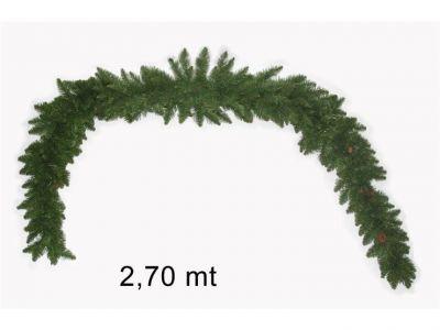 ghirlanda tinta unica verde classica 270 cm