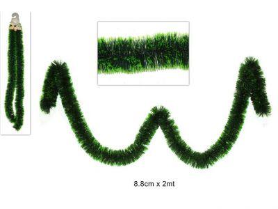 Filo inzeppato Verde bicolore per decorazioni e addobbi Natalizi 200cm