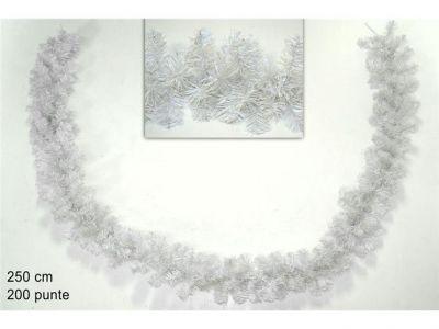 ghirlanda bianca per addobbi natalizi 250CM