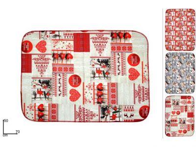 strofinaccio o tessuto decorato natalizio da utilizzare in cucina 70cm