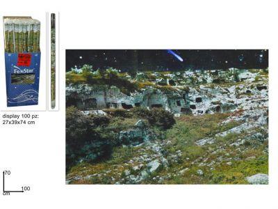 carta disegno con scenario per presepe paesaggio 27cmx39cmx74cm