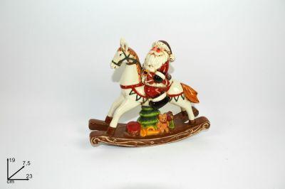 Babbo Natale Su Cavallo A Dondolo