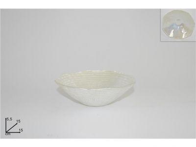 coppa vetro bianco perla 15 cm multiuso accessori per la casa