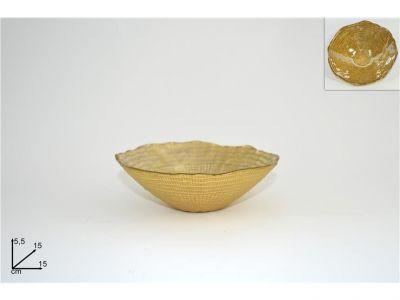 coppa in vetro oro accessori e decorazioni per la casa 15cm