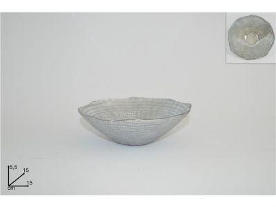 coppa in vetro argento accessori e decorazioni per la casa natalizie