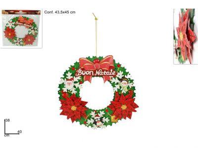 dietro porta cartoncino a stella natalizio 45cm