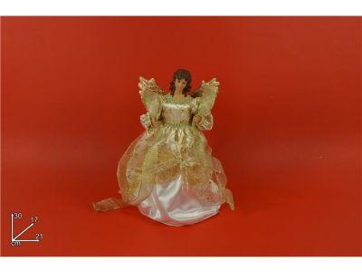angelo puntale per albero di natale colore oro 30 cm