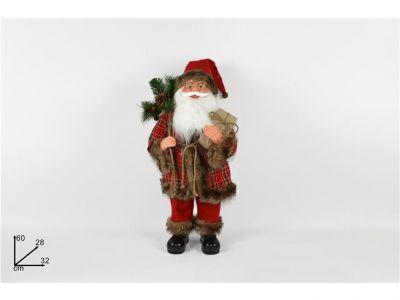 Babbo Natale nordico con pacco regalo 60 cm