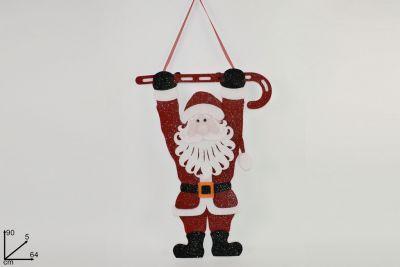 Appendino Babbo Natale 90cm glitterato