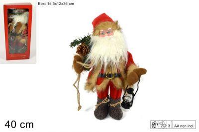 Babbo Natale Con Musica E Movimenti 40cm