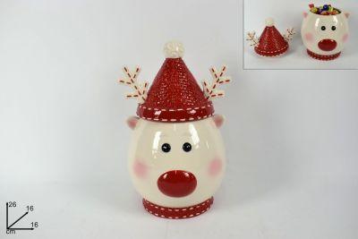 Barattolo contenitore Ceramica Renna