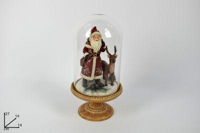 Babbo Natale Con Campana Di Vetro
