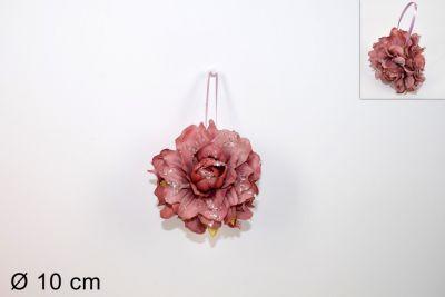 Fiore Appendino Rosa 10cm