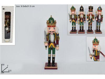 soldato schiaccianoci in legno 30 cm soldatino di natale