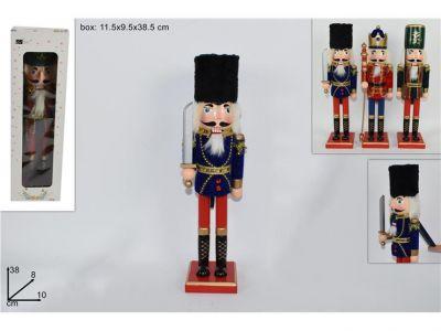 soldato schiaccianoci in legno soldatino di natale 38 cm