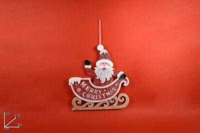 Appendino Feltro Babbo Natale Merry Christmas 33cm