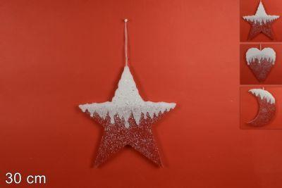 Appendino Feltro a forma di stella Con Glitter 30 cm