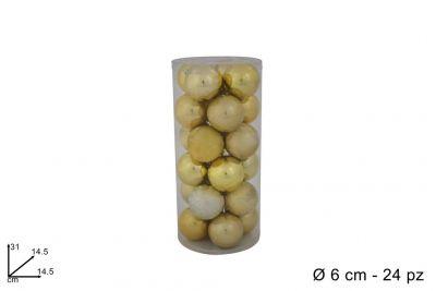 24 Palle Natalizie color Oro 6 cm