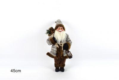 Babbo Natale Con Cappotto 45cm