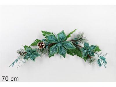 fascina dietro porta 70 cm fiore natalizio verde chiaro addobbi di natale