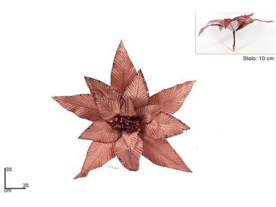 pinzone fiore di natale per addobbi rosa gold