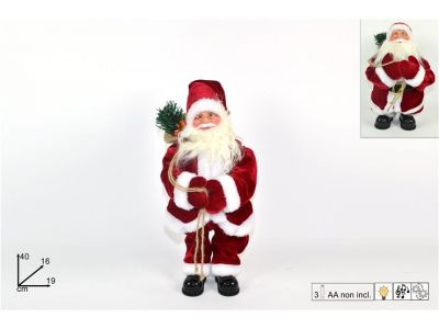 Babbo Natale 40 cm con movimento e musica