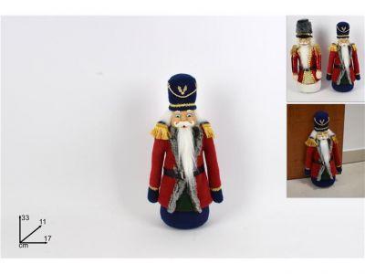 soldato schiaccianoci fermaporta in tessuto colorato 33 cm