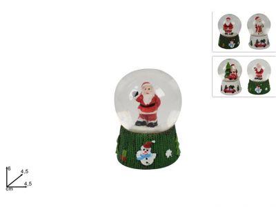ampolla con Babbo Natale effetto neve sopramobili natalizi