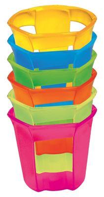 Confezione da 6 Portabicchieri in termoplastica colori assortiti