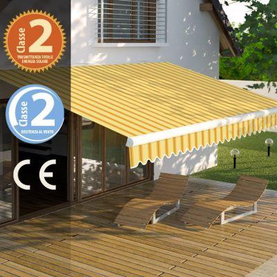 """VERDOLOOK Tenda da sole """"Itaca"""" con braccio reclinabile per balcone e veranda telo impermeabile 3 x h 2,5 mt"""