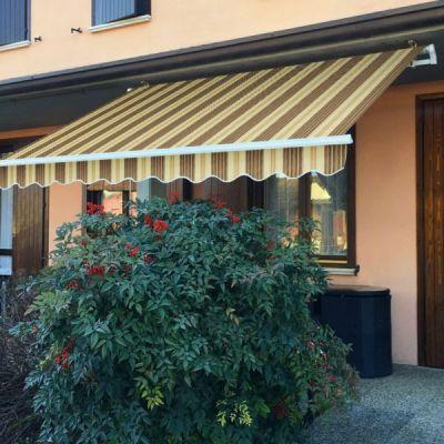 Verdelook Tenda Sole Itaca Inclinazione Fissa Sporgenza  4 x 2,5 m beige e marrone