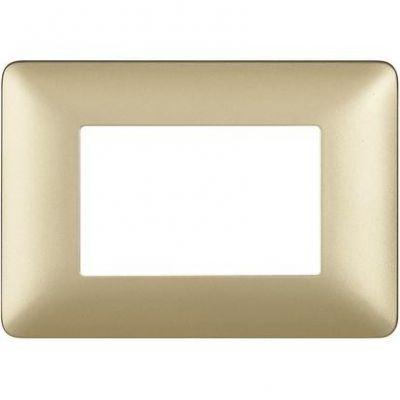 BTICINO PLACCA 3P GOLD 3 moduli