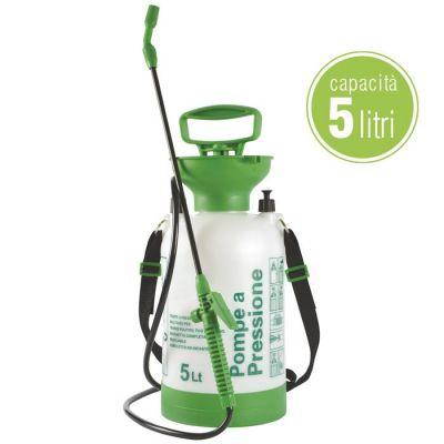 Pompa in plastica per irrorazione 5 lt verdelook lenny attrezzi giardino