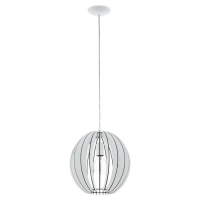 EGLO LAMPADA IN ACCIAIO E LEGNO BIANCO 30X130 cm