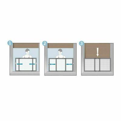 Zanzariera Estensibile e ribaltabile orizzontale/verticale per finestre