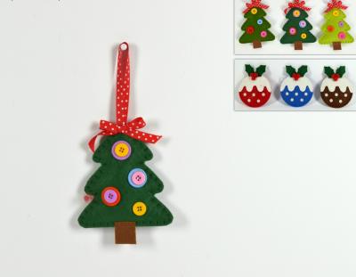 Appendino natalizio a forma di alberello in Tessuto 15cm