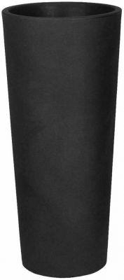 Vaso tondo a colonna veca vaso clou alto H 65 cm vari colori estraibile resina ANTRACITE
