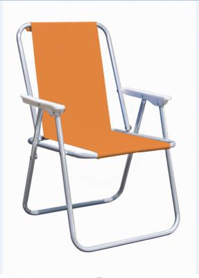 Sedia Picnic ideale per mare campeggio sedie giardino relax in poliestere Arancione struttura alluminio spiaggina