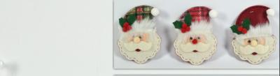 Appendino in feltro viso di Babbo Natale 13cm