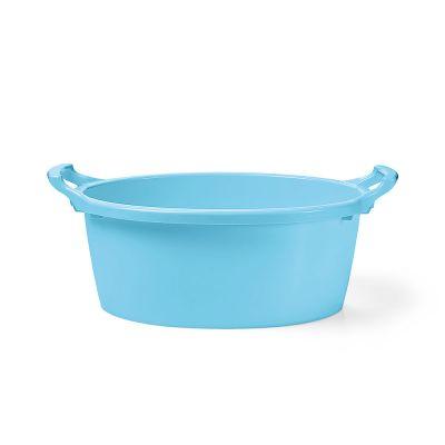 Bacinella in polietilene contenitore in plastica 35 cm -Azzurro