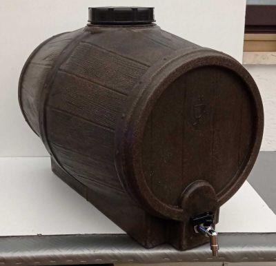 Botte barile vino polietilene finto legno con rubinetto 50Lt
