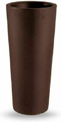 Vaso tondo a colonna veca vaso clou alto H 65 cm vari colori estraibile resina BRONZO
