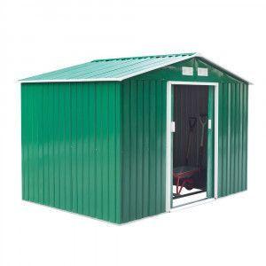 Casetta box in alluminio da giardino porta attrezzi cabina salvaspazio Garden
