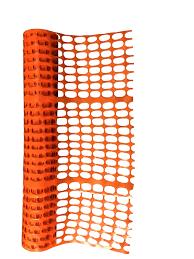 RETE RECINZIONE PER DELIMITAZIONE CANTIERE ARANCIO 1 x 50 m RESISTENTE PVC 80 gr